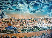 Large Pray for the Peace of Jerusalem - Numbered/Paper -Unframed
